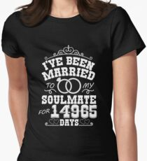 41st Wedding Anniversary Tshirts. Couples Gifts Women's Fitted T-Shirt