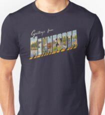 Greetings from Minnesota 1 Slim Fit T-Shirt