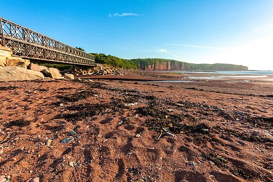 Bridge on Fundy Bay by Manon Boily