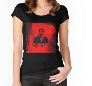 Camiseta entallada de cuello redondo