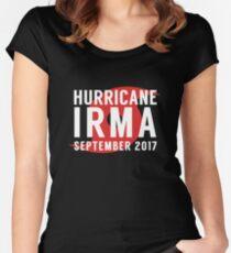Hurricane Irma 2017 Storm Survivor Women's Fitted Scoop T-Shirt