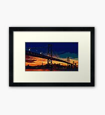 San Francisco Skyline at Night Framed Print