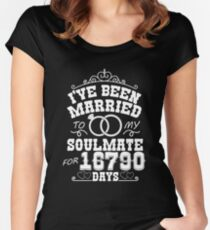 46th Wedding Anniversary Tshirts. Couples Gifts Women's Fitted Scoop T-Shirt