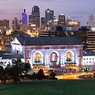 Kansas City Skyline Panorama at Dusk by Gregory Ballos
