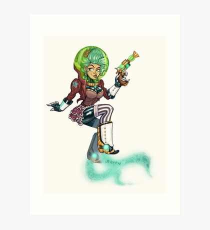 Steampunk Space Princess Art Print