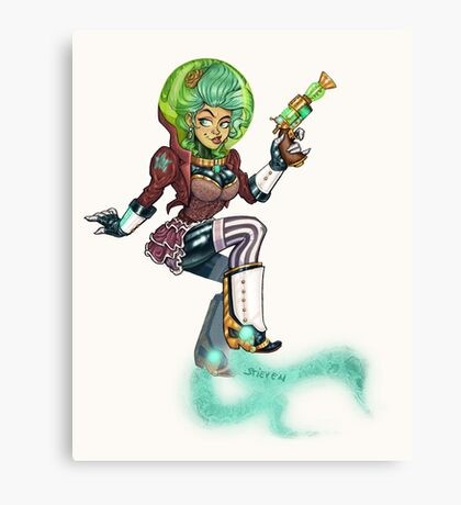 Steampunk Space Princess Canvas Print