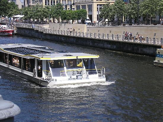 boat on the river spree, Berlin, Germany by chord0
