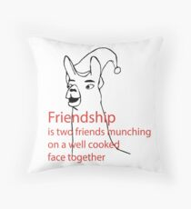 Llamas with hats - friendship Throw Pillow