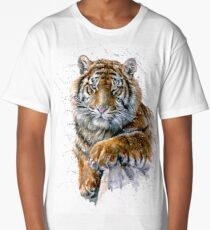 Tiger watercolor predator Long T-Shirt
