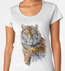 Tiger watercolor predator Women's Premium T-Shirt