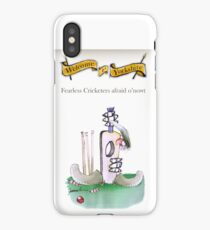 Funny Yorkshire Cricketers 'afraid o'nowt' iPhone Case/Skin