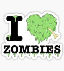 I Love Zombies Sticker
