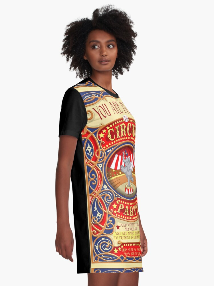 Alternate view of Dumbo Flying Elephant Circus Party  Graphic T-Shirt Dress