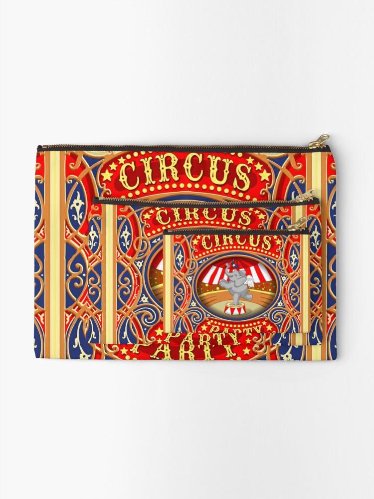 Alternate view of Dumbo Flying Elephant Circus Party  Zipper Pouch