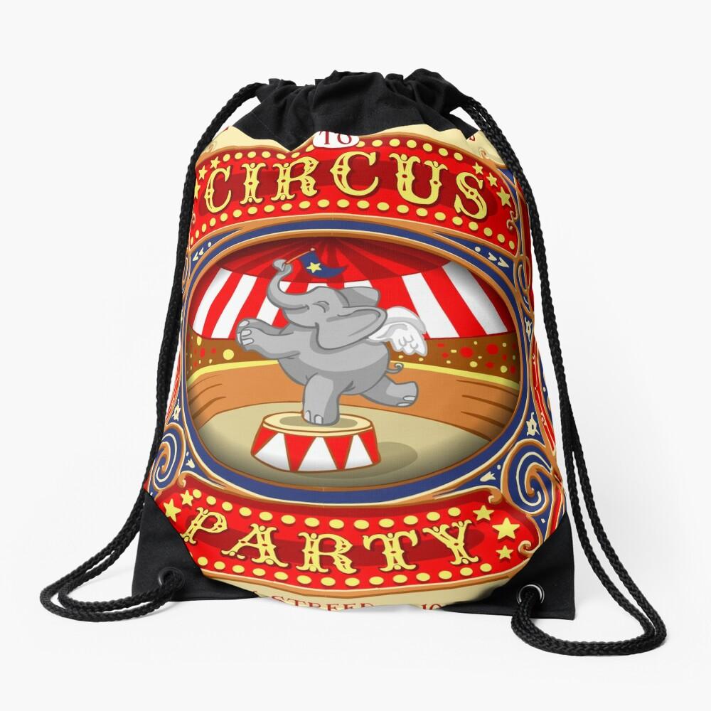 Dumbo Flying Elephant Circus Party  Drawstring Bag