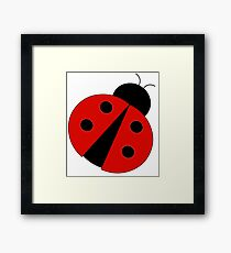 Ladybug  lucky charm Framed Print