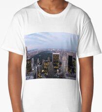 NYC Central Park View at Dusk Long T-Shirt