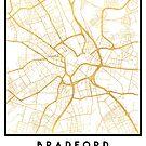 BRADFORD ENGLAND CITY STREET MAP ART by deificusArt