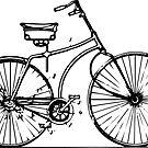 Antique bike sticker by sledgehammer