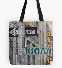 New York Street Signs Tote Bag