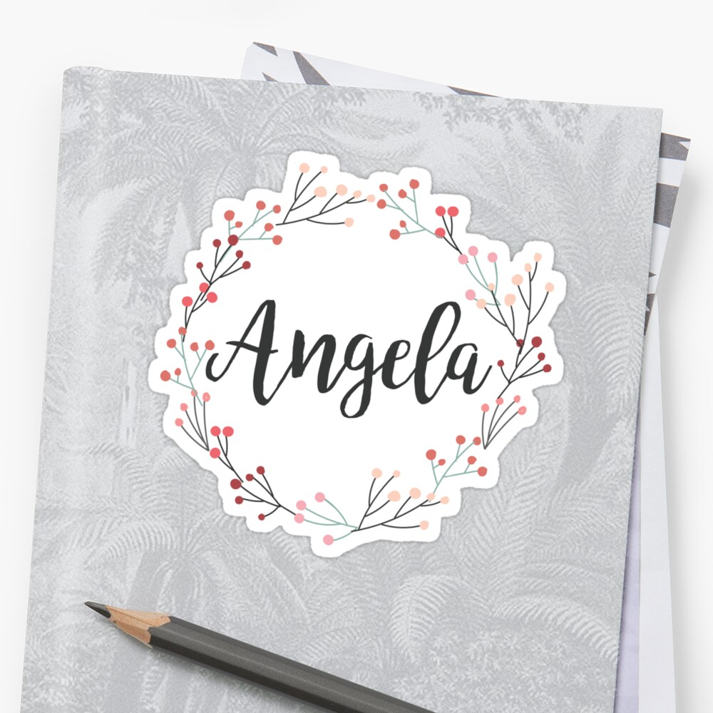 Angela | First Name in Pink Wreath by koovox