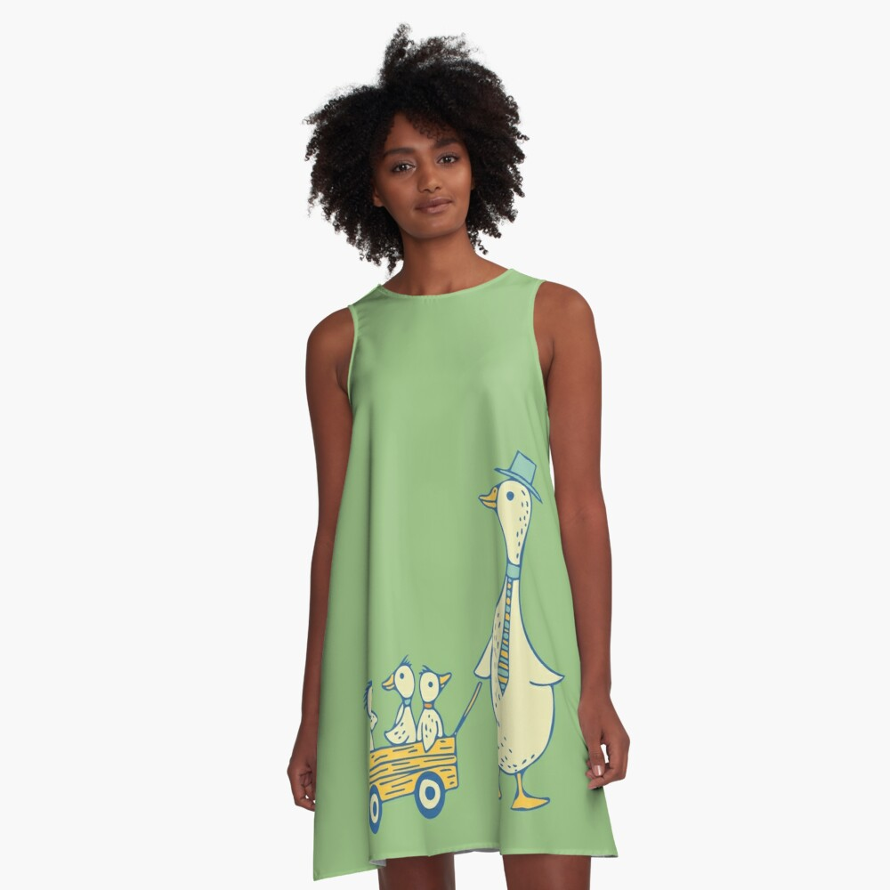 Daddy Duck A-Line Dress Front