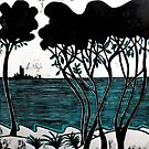 "Port Philip Bay - The Peninsula by Belinda ""BillyLee"" NYE (Printmaker)"
