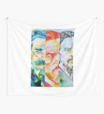 THREE TIMES ALAN WATTS Wall Tapestry