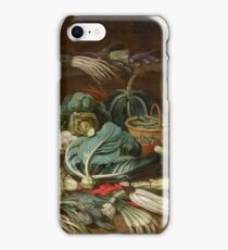 Jan van Kessel the Younger, Still Life with Vegetables and a Rabbit Still Life with Fish and Cats in the Kitchen iPhone Case/Skin