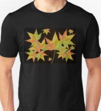 Fall Colors - Autumn Leaves Background Magic T-Shirt