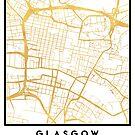 GLASGOW SCOTLAND CITY STREET MAP ART by deificusArt