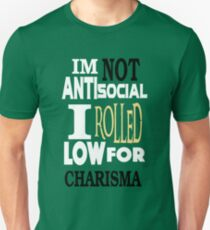 NOT Antisocial Low Charisma T-Shirt
