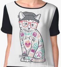 "Cats Put the ""Me"" in MEOW Chiffon Top"