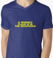 A woman's place is in the resistance (bold) T-Shirt