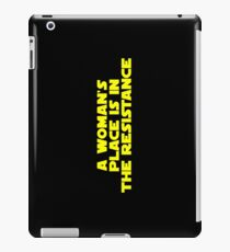 A woman's place is in the resistance (bold) iPad Case/Skin