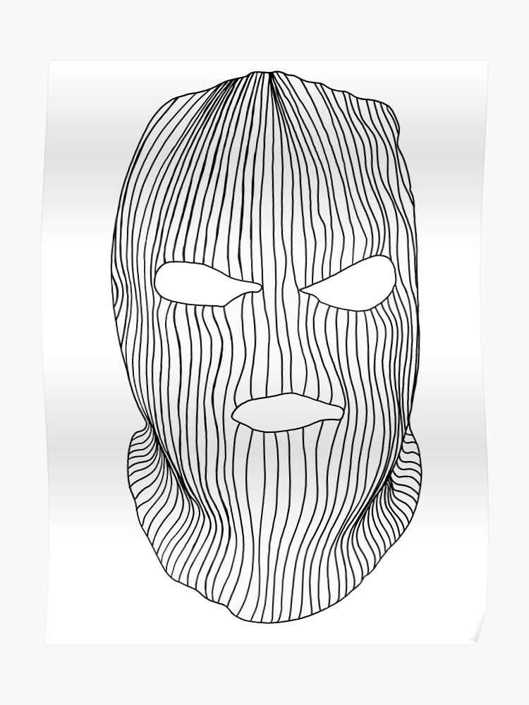 ski mask drawing