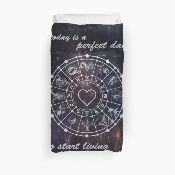today is a perfect day to start living your dreams Duvet Cover