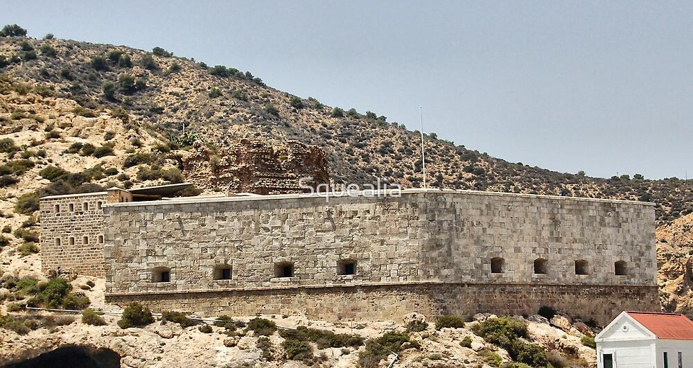 The Fuerte (fort) de Navidad, Cartagena, Spain.  by Squealia