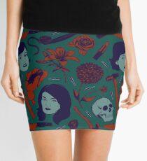 MFM-Color Murderino Pattern Mini Skirt