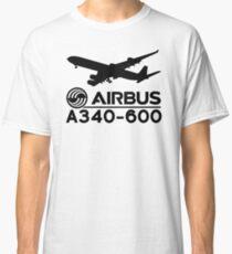 Airbus A340-600 - Silhouette (Black) Classic T-Shirt