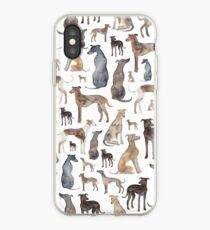 Vinilo o funda para iPhone Greyhounds, Wippets y Lurcher Dogs