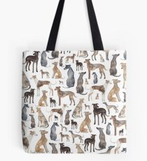 Windhunde, Wippets und Lurcher Hunde! Tote Bag