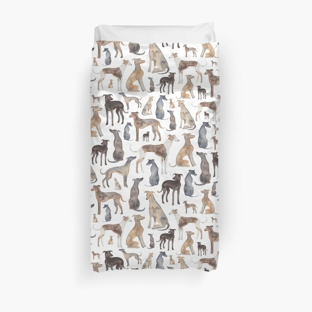 Windhunde, Wippets und Lurcher Hunde! Bettbezug