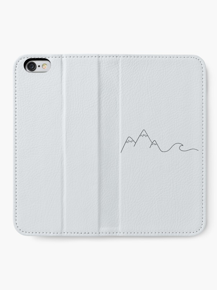 Alternate view of Mountain Wave iPhone Wallet