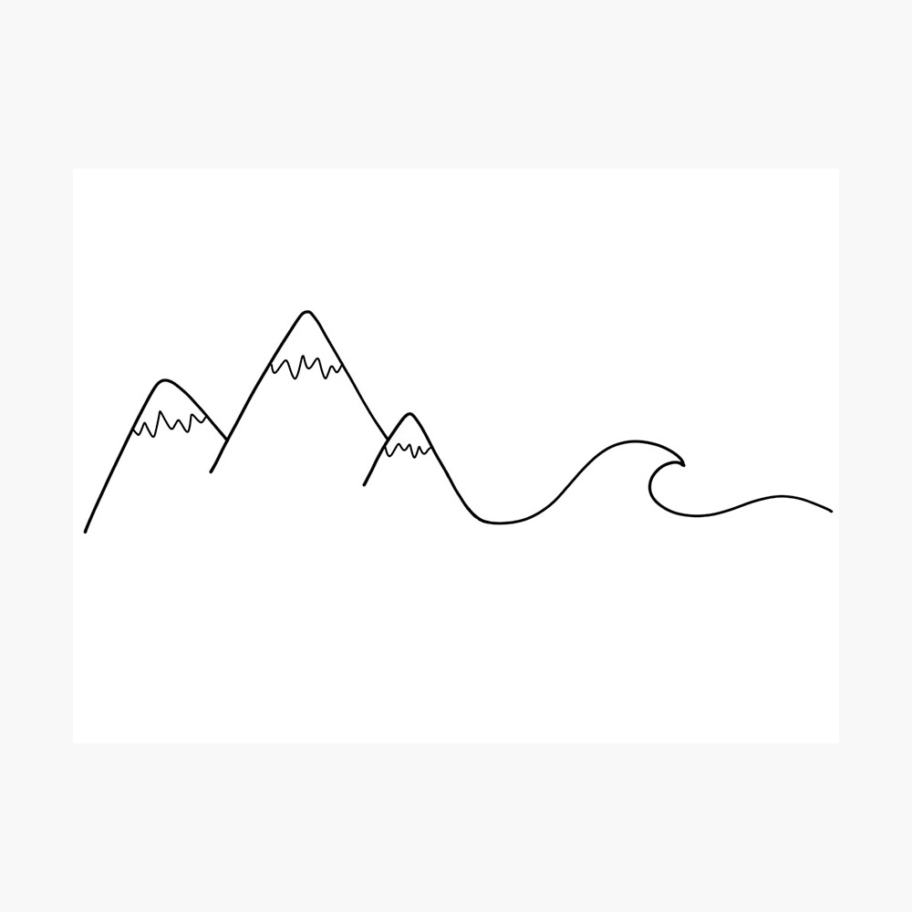 Mountain Wave Photographic Print