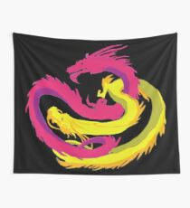 Pink Dragon Wall Tapestry