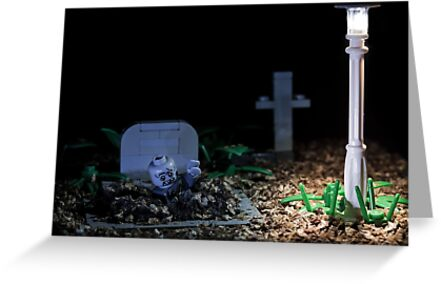 Rise of the Lego zombie by Kevin  Poulton - aka 'Sad Old Biker'