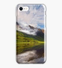 Glen Coe. Loch Achtriochtan and Aonach Eagach reflection. Highland Scotland. iPhone Case/Skin