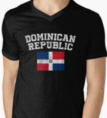 Dominican Flag Shirt - Vintage Dominican Republic T-Shirt Men's V-Neck T-Shirt