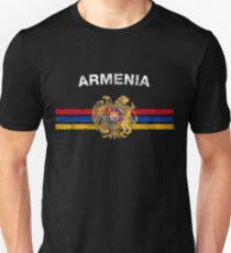 Armenian Flag Shirt - Armenian Emblem & Armenia Flag Shirt T-Shirt